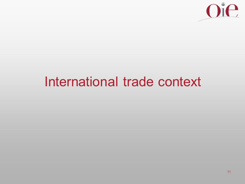 11 International trade context
