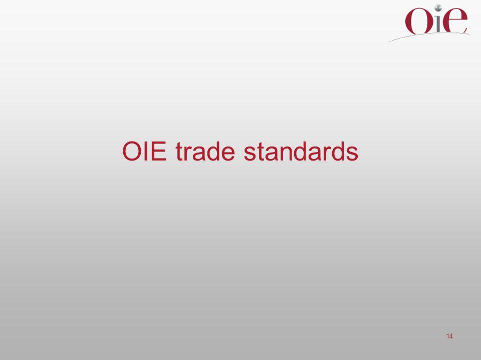 14 OIE trade standards