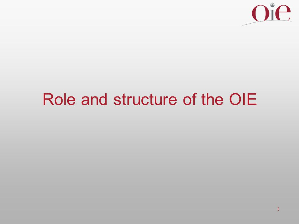 3 Role and structure of the OIE
