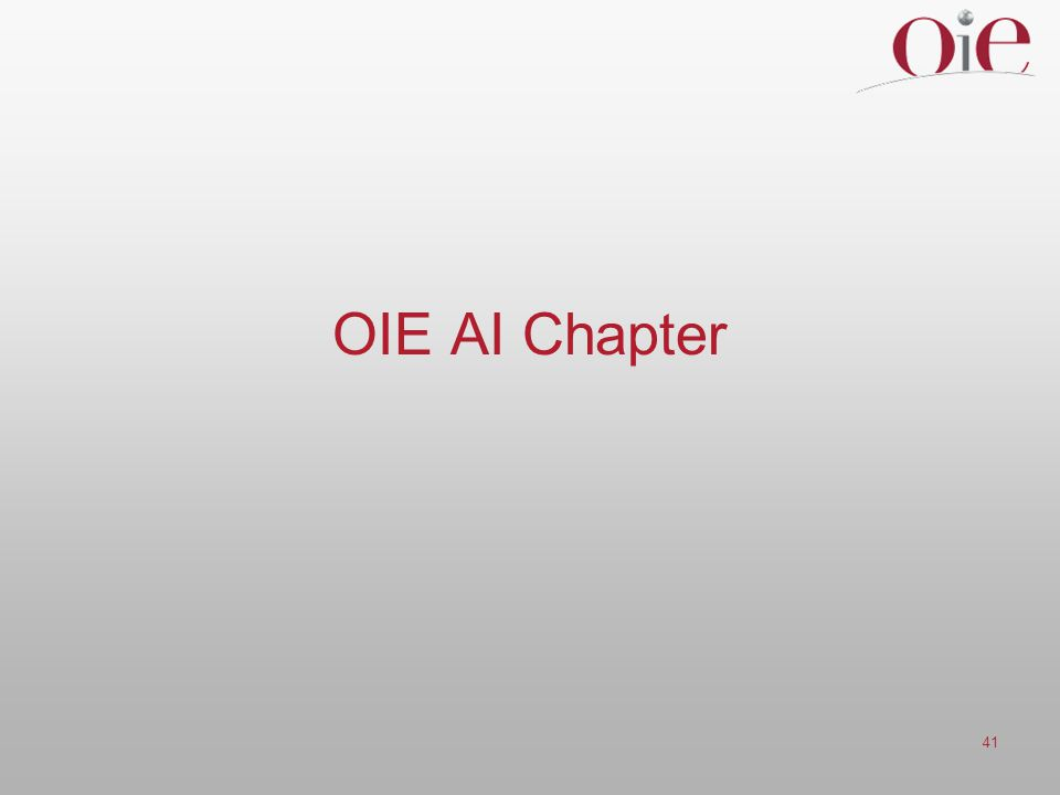 41 OIE AI Chapter