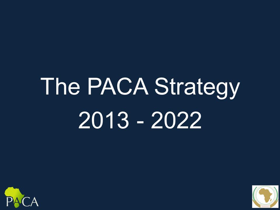 The PACA Strategy 2013 - 2022