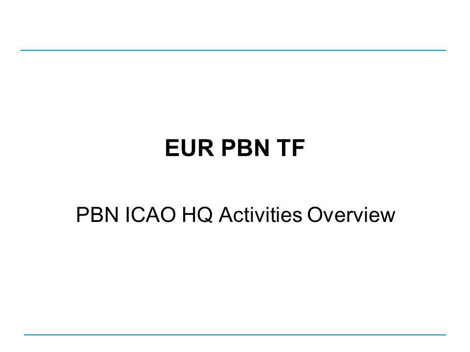 EUR PBN TF PBN ICAO HQ Activities Overview