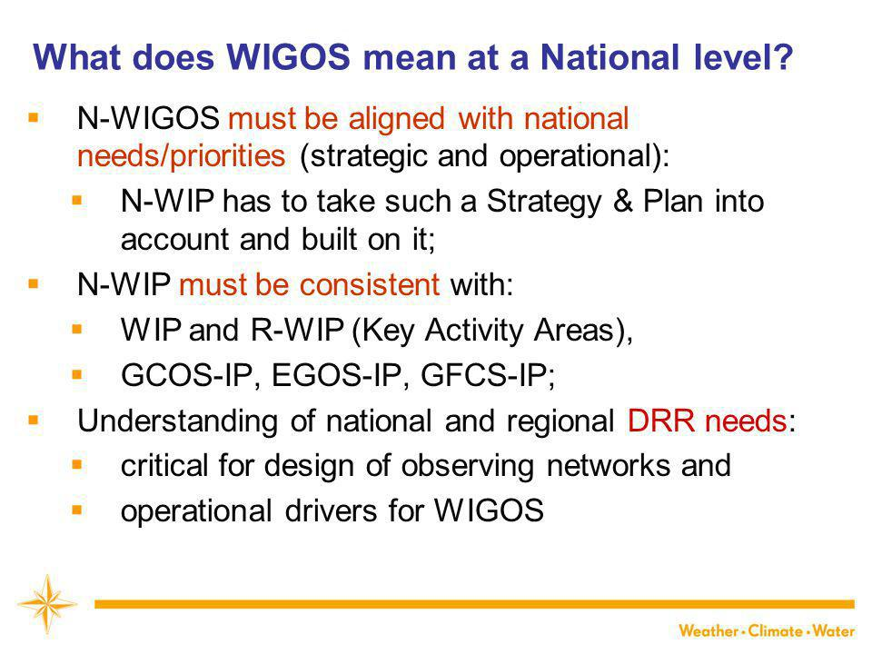 What does WIGOS mean at a National level.