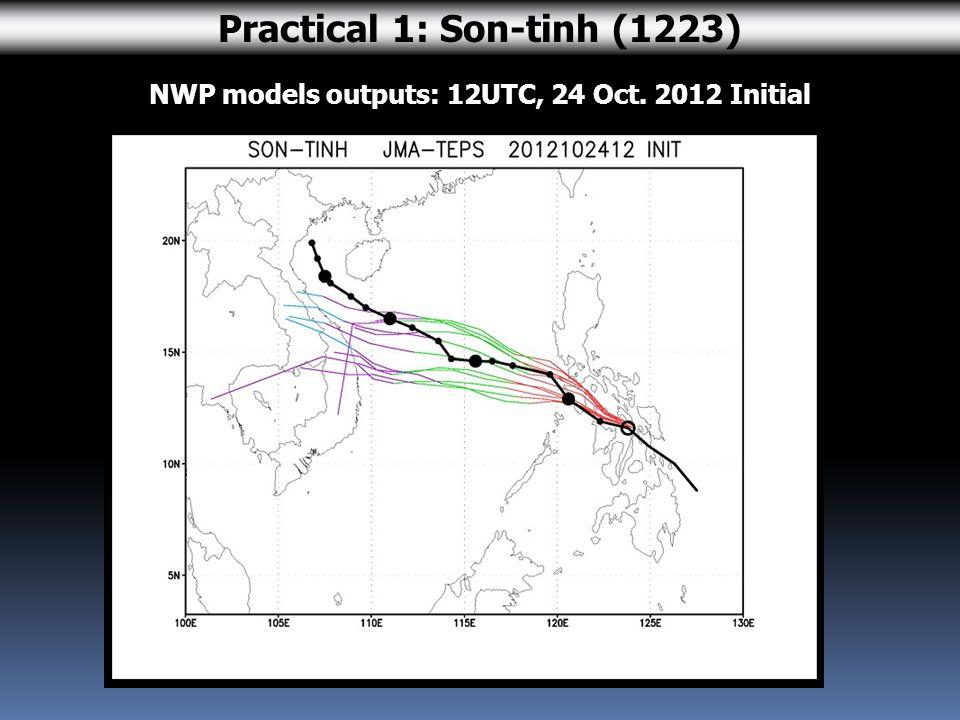 JMA forecast issued at 06UTC, 14 Aug. 2012 Practical 2: Kai-tak (1213)