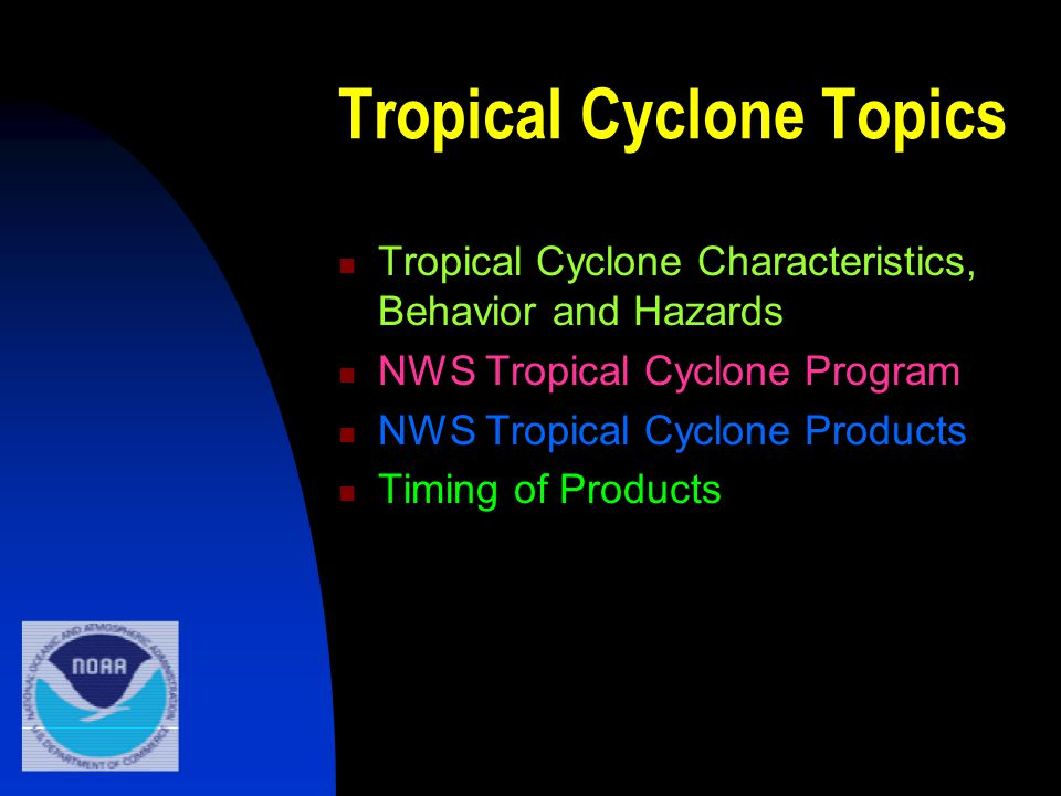 Tropical Cyclone Local Statement Detailed bulletin containing tropical cyclone information