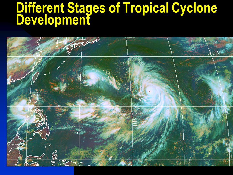 Different Stages of Tropical Cyclone Development
