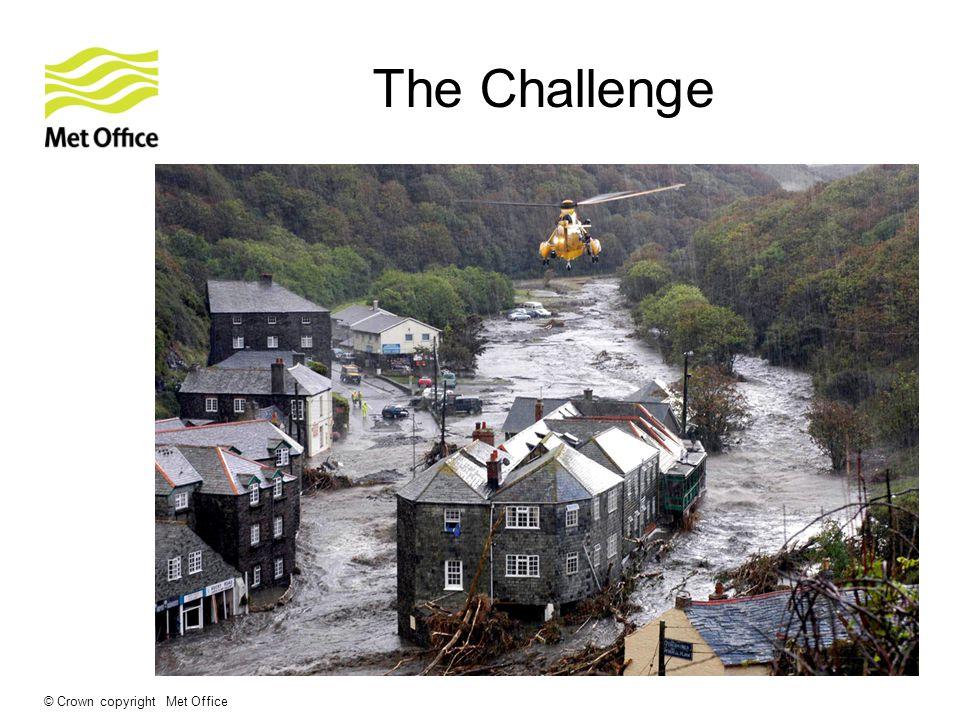 © Crown copyright Met Office The Challenge