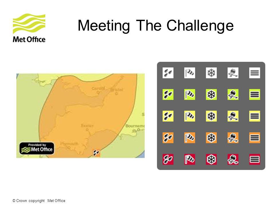 © Crown copyright Met Office Meeting The Challenge