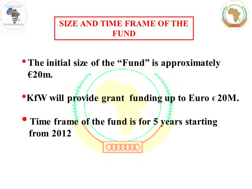 SIZE AND TIME FRAME OF THE FUND The initial size of the Fund is approximately €20m.
