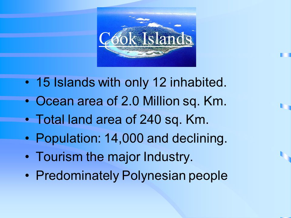 Cook Islands National Development Strategy Drafted National Information Infrastructure plan in 1998 Unfortunately not actioned.
