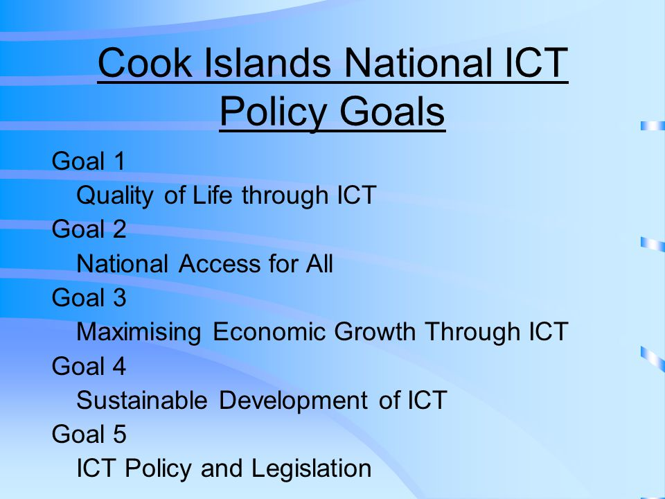 Conclusion The Cook Islands is a very small developing island Nation with very limited resources.