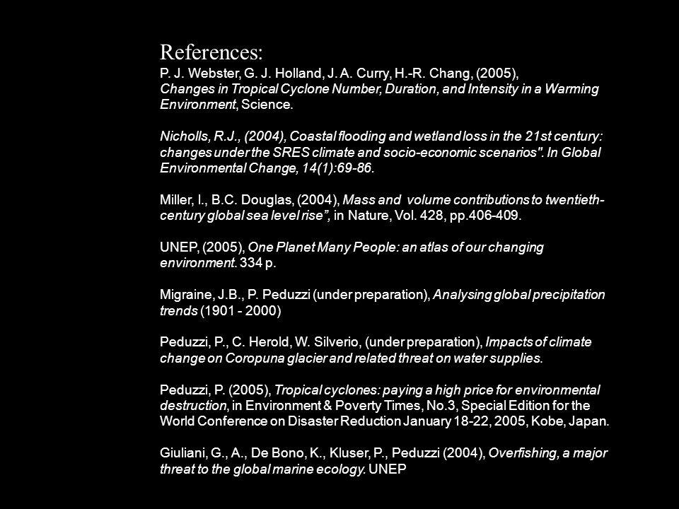 References: P. J. Webster, G. J. Holland, J. A.