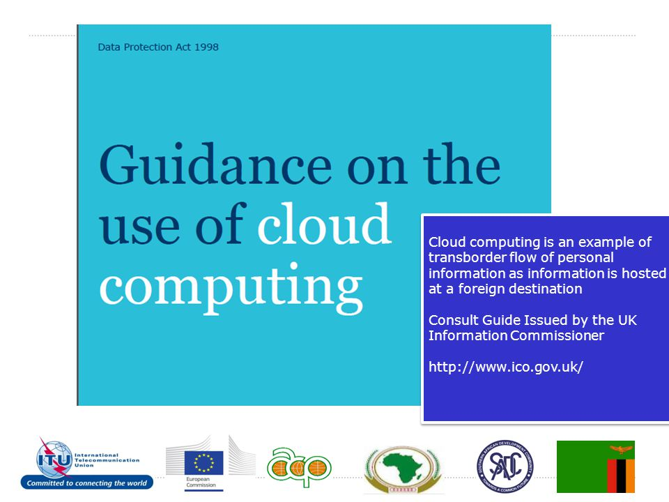 Cloud computing is an example of transborder flow of personal information as information is hosted at a foreign destination Consult Guide Issued by th