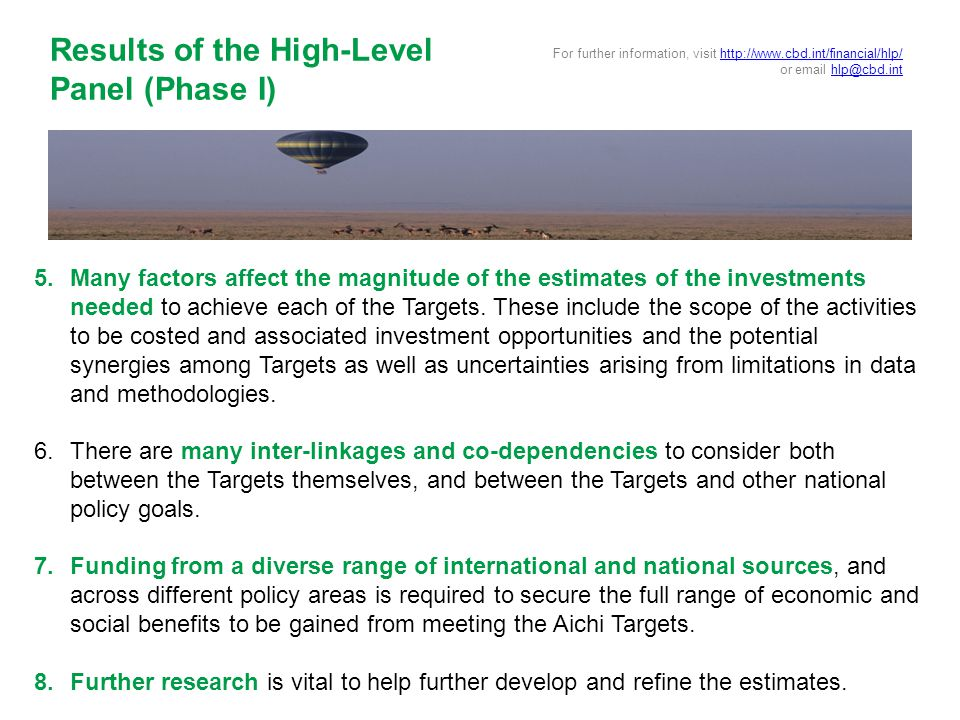 5.Many factors affect the magnitude of the estimates of the investments needed to achieve each of the Targets.