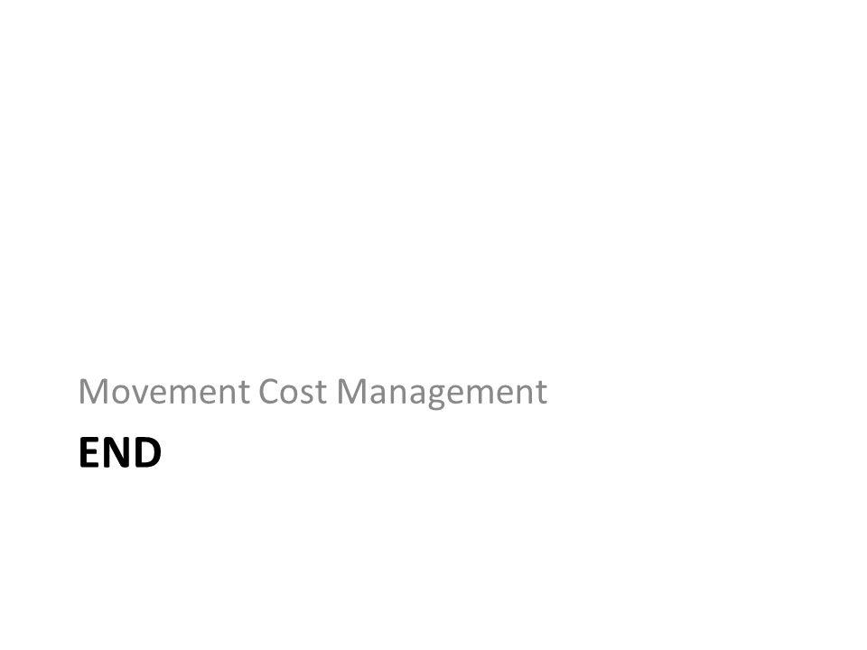 END Movement Cost Management