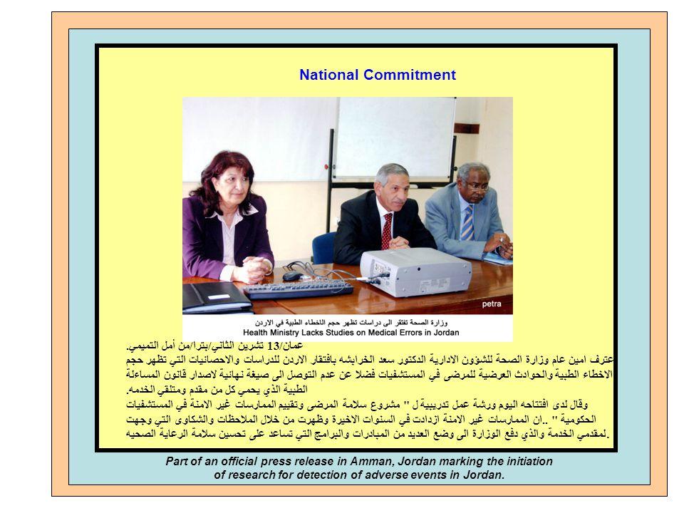 14 National Commitment عمان /13 تشرين الثاني / بترا / من أمل التميمي. اعترف امين عام وزارة الصحة للشؤون الادارية الدكتور سعد الخرابشه بافتقار الاردن ل