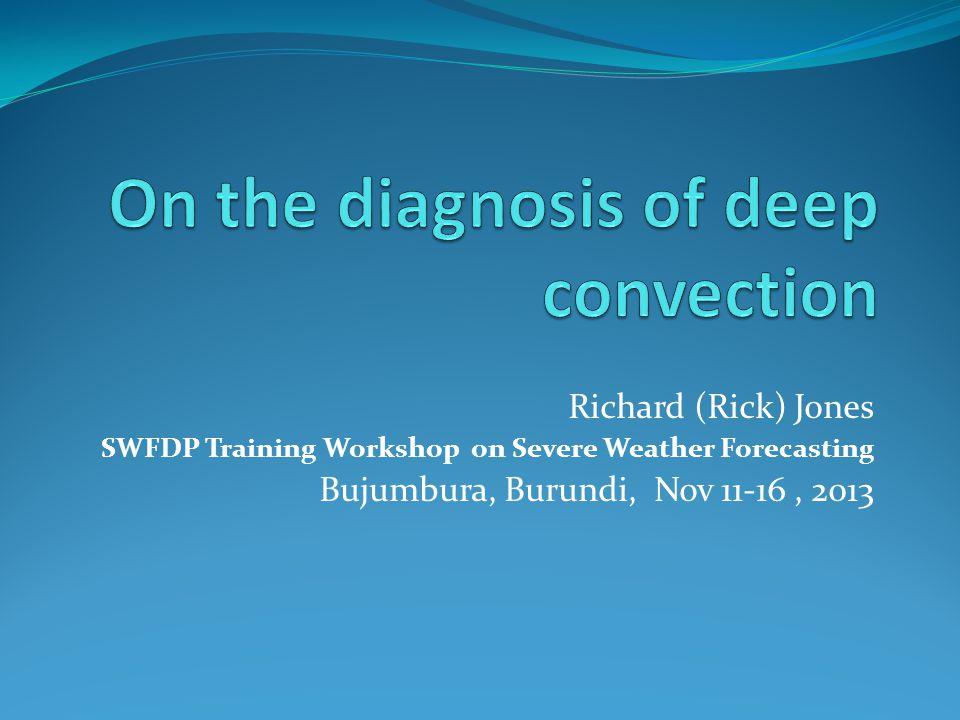 Richard (Rick) Jones SWFDP Training Workshop on Severe Weather Forecasting Bujumbura, Burundi, Nov 11-16, 2013