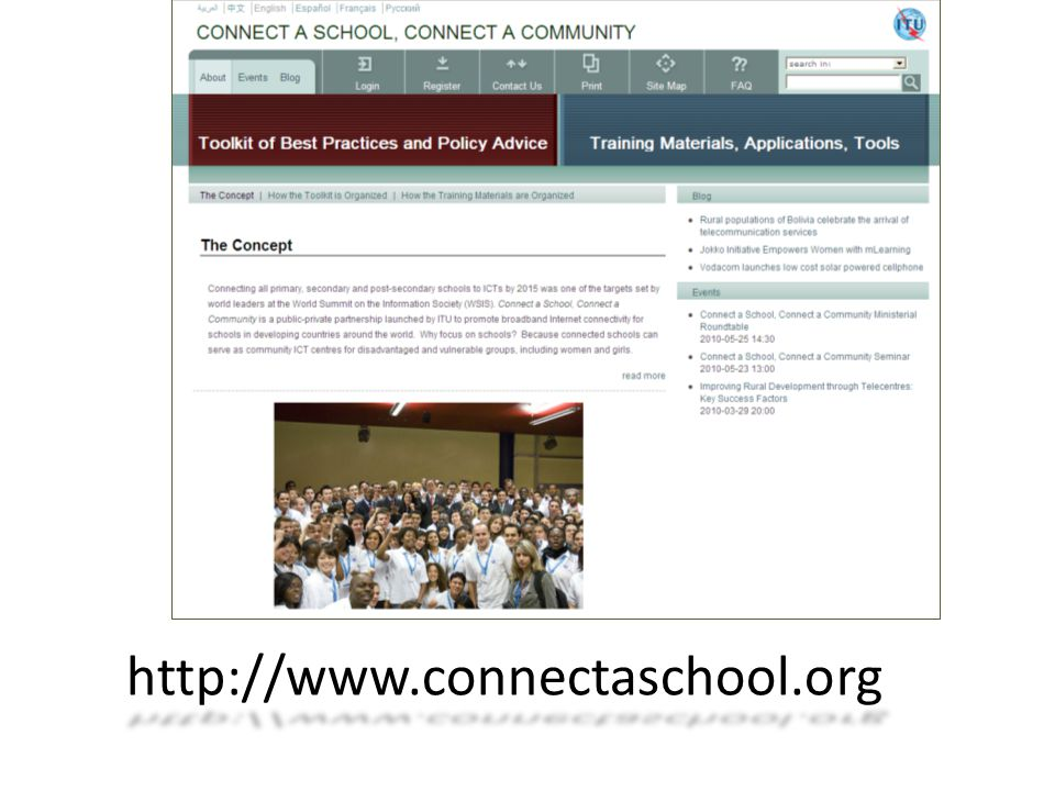 http://www.connectaschool.org