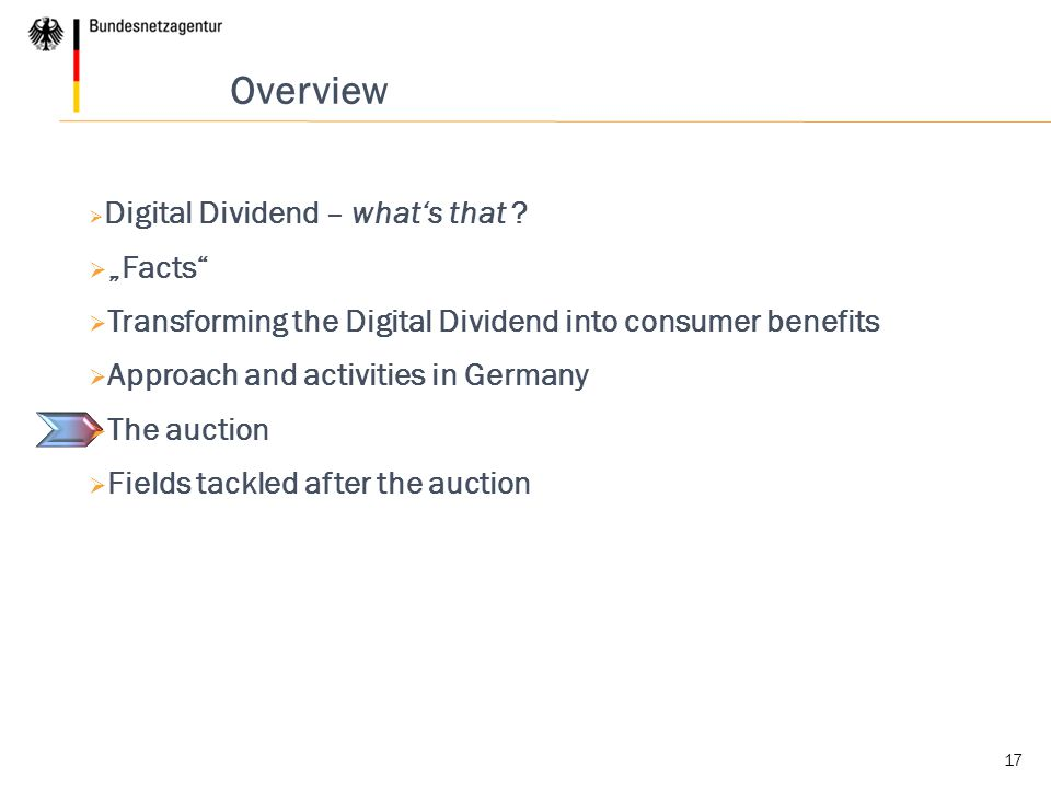 17 Overview  Digital Dividend – what's that .