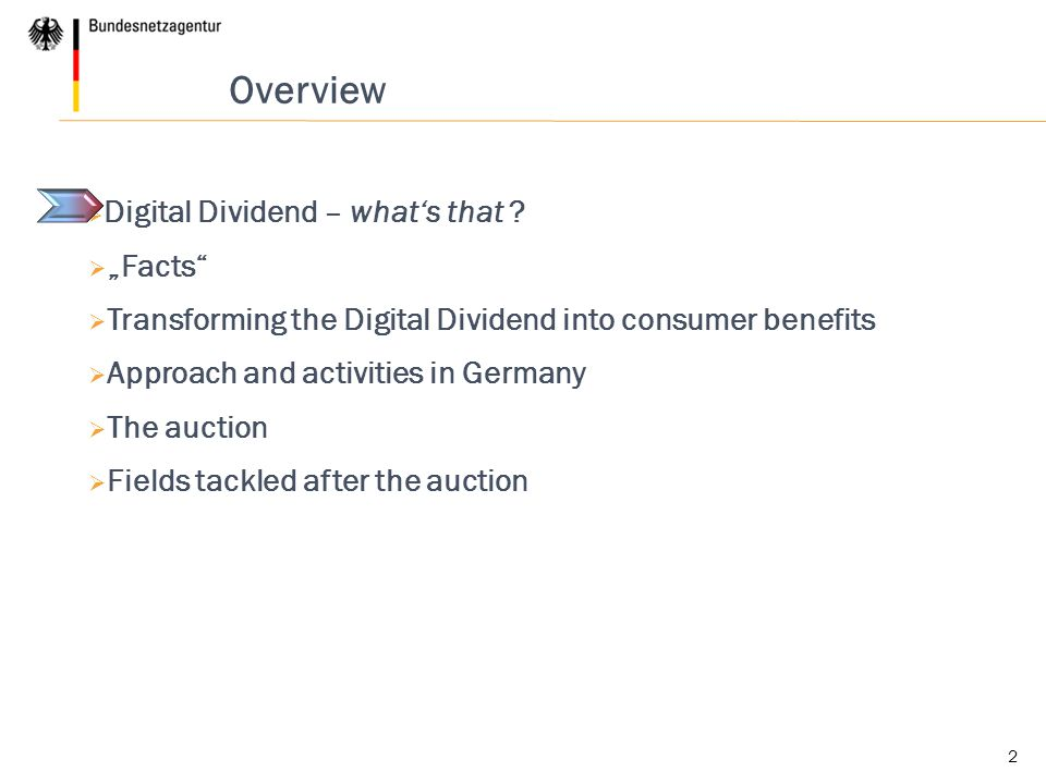 2 Overview  Digital Dividend – what's that .