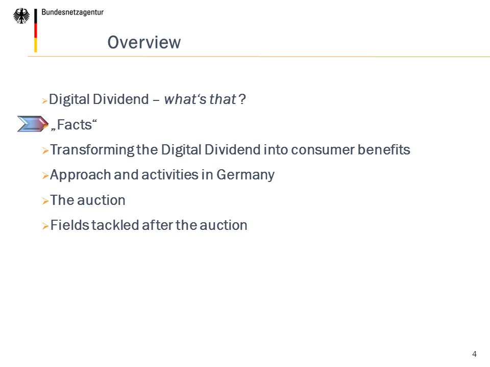 4 Overview  Digital Dividend – what's that .