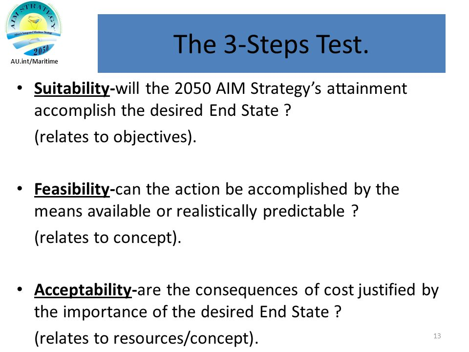 Suitability-will the 2050 AIM Strategy's attainment accomplish the desired End State .