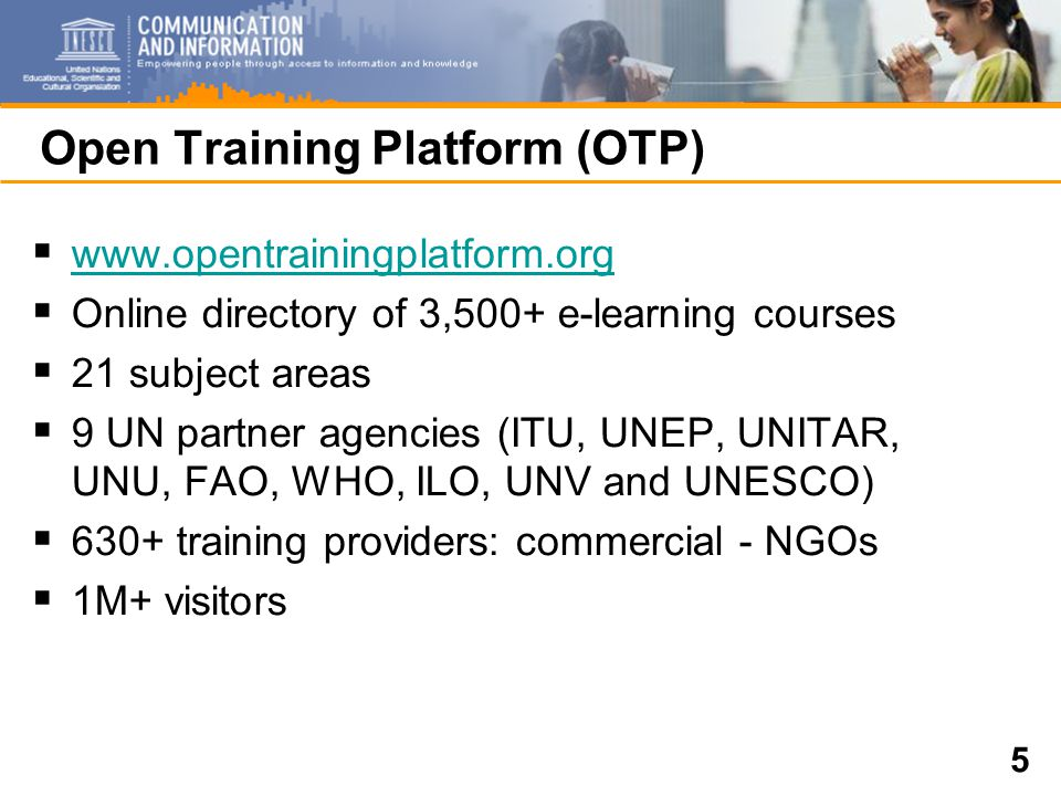 6 Open Access (OA)  Access to scientific information  Developing countries universities, think tanks, research institutions, Government policy units  Undertake 2010 Global Map with OSI and OASIS within WSIS UNGIS  Awareness and links to existing global OA respositories  Building capacities to create dynamic, viable local OA repositories