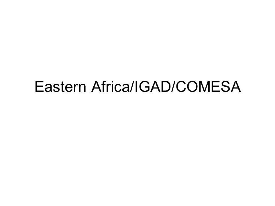 Eastern Africa/IGAD/COMESA