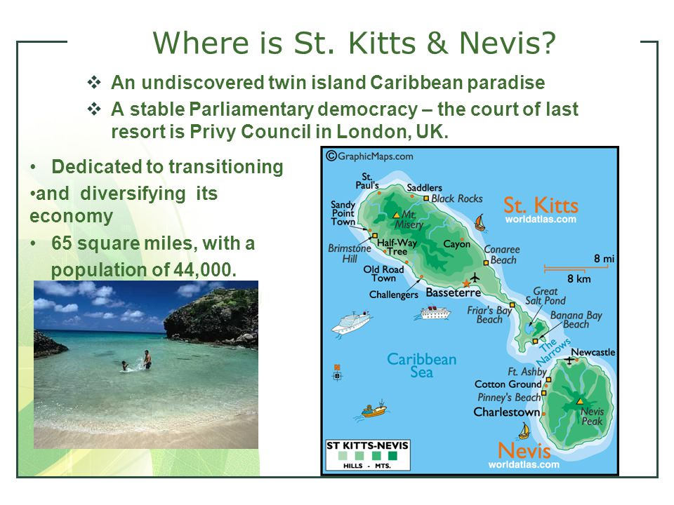 5 Where is St. Kitts & Nevis.