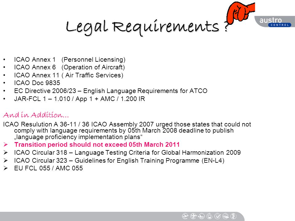 Legal Requirements .