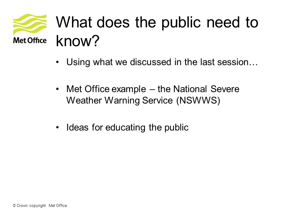 What other ways can we educate the public? Any other ideas?