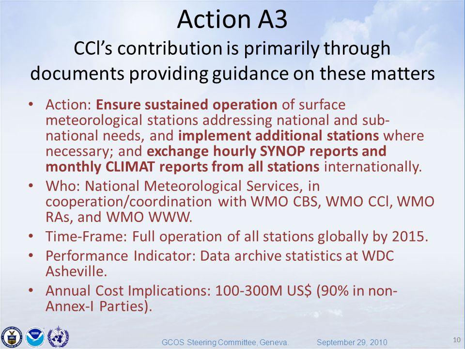10 GCOS Steering Committee, Geneva.