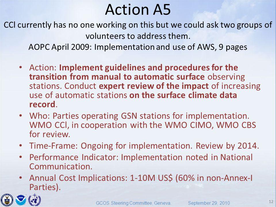 12 GCOS Steering Committee, Geneva.