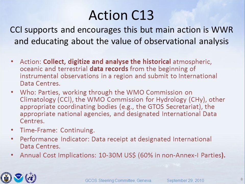 8 GCOS Steering Committee, Geneva.