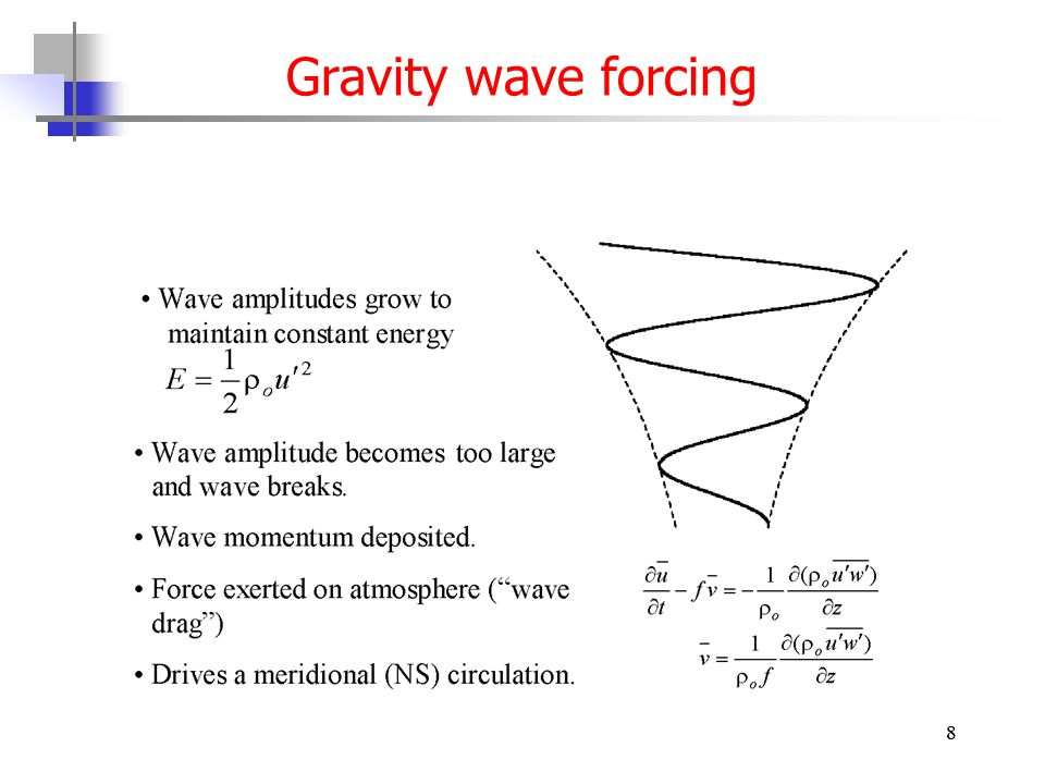 8 Gravity wave forcing 8