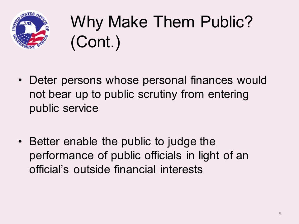 Why Make Them Public.