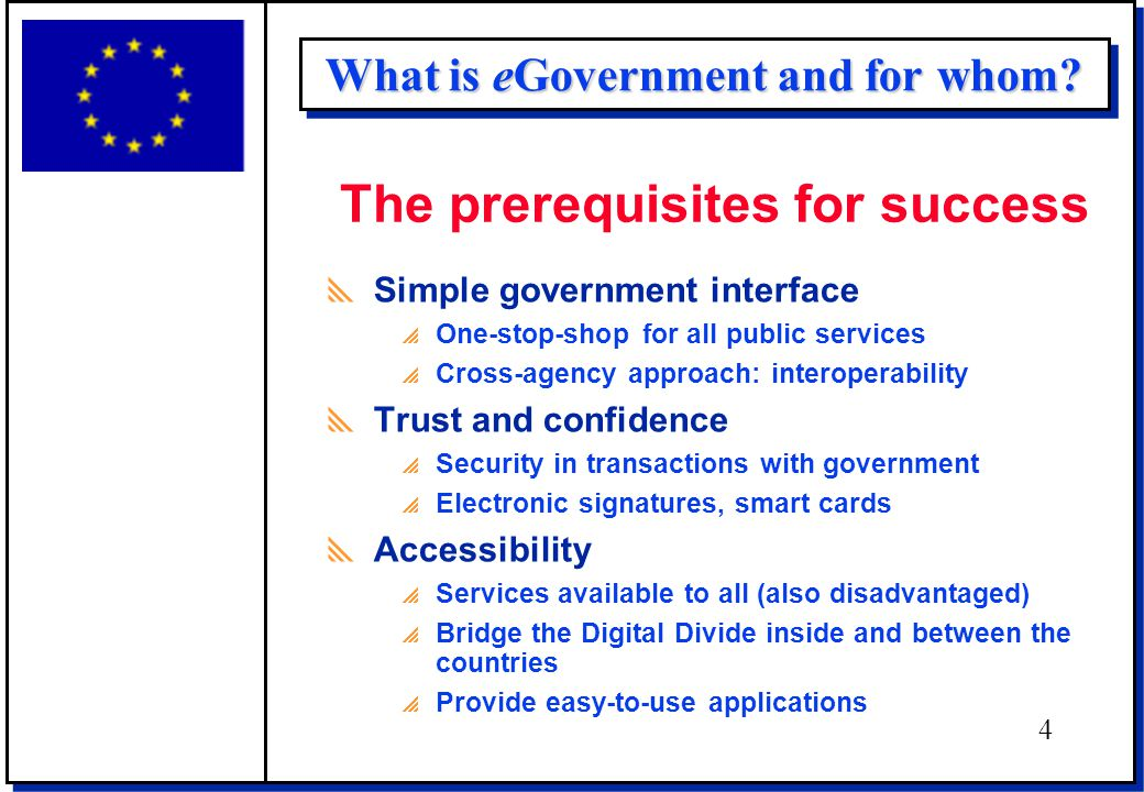 What is eGovernment and for whom.