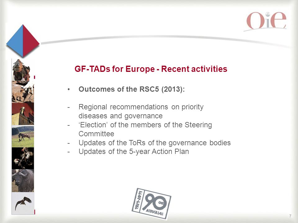 8 GF-TADs for Europe RSC5 Recommendations  Recommendations on governance mechanism