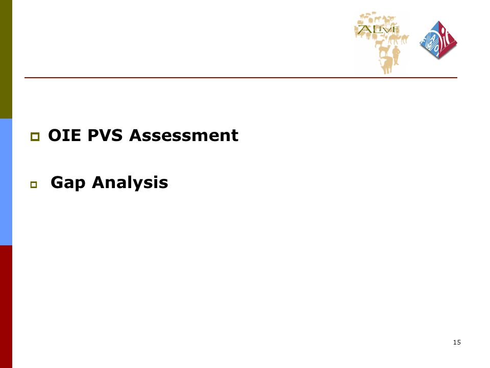 15  OIE PVS Assessment  Gap Analysis