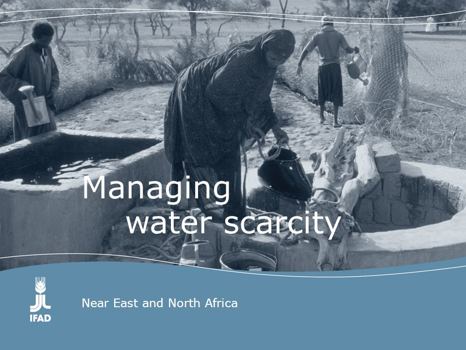 Overview Major water challenges in the Near East and North Africa (NENA) region –The state of water is reaching crisis level.