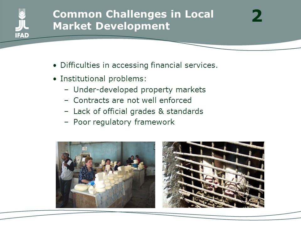 Difficulties in accessing financial services.
