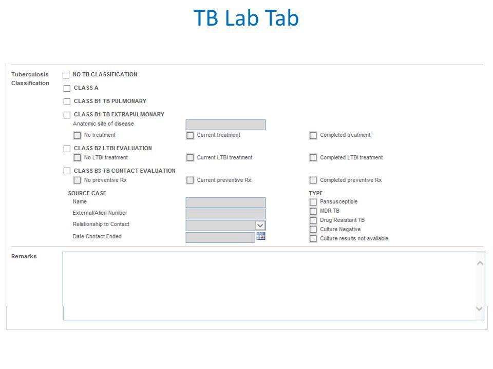 TB Lab Tab