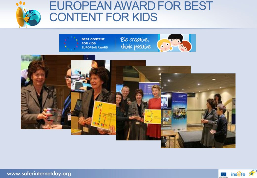 EUROPEAN AWARD FOR BEST CONTENT FOR KIDS