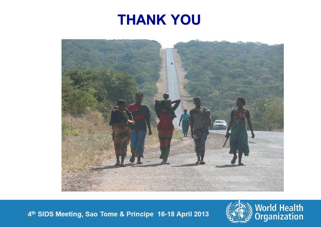 4 th SIDS Meeting, Sao Tome & Principe 16-18 April 2013 THANK YOU
