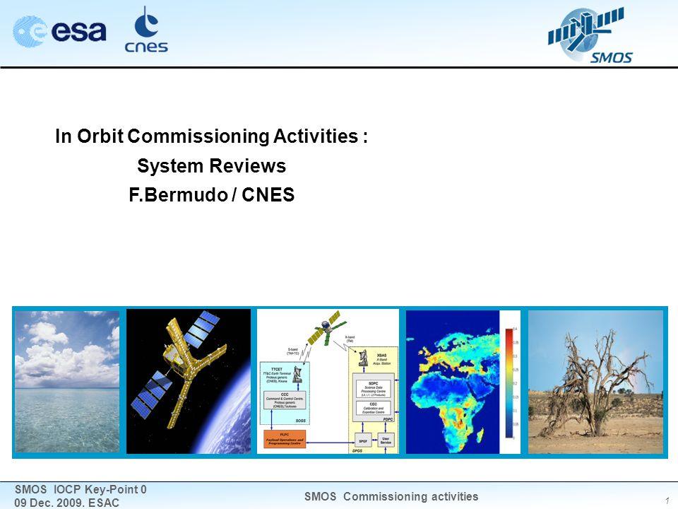 1 SMOS IOCP Key-Point 0 09 Dec. 2009. ESAC SMOS Commissioning activities In Orbit Commissioning Activities : System Reviews F.Bermudo / CNES
