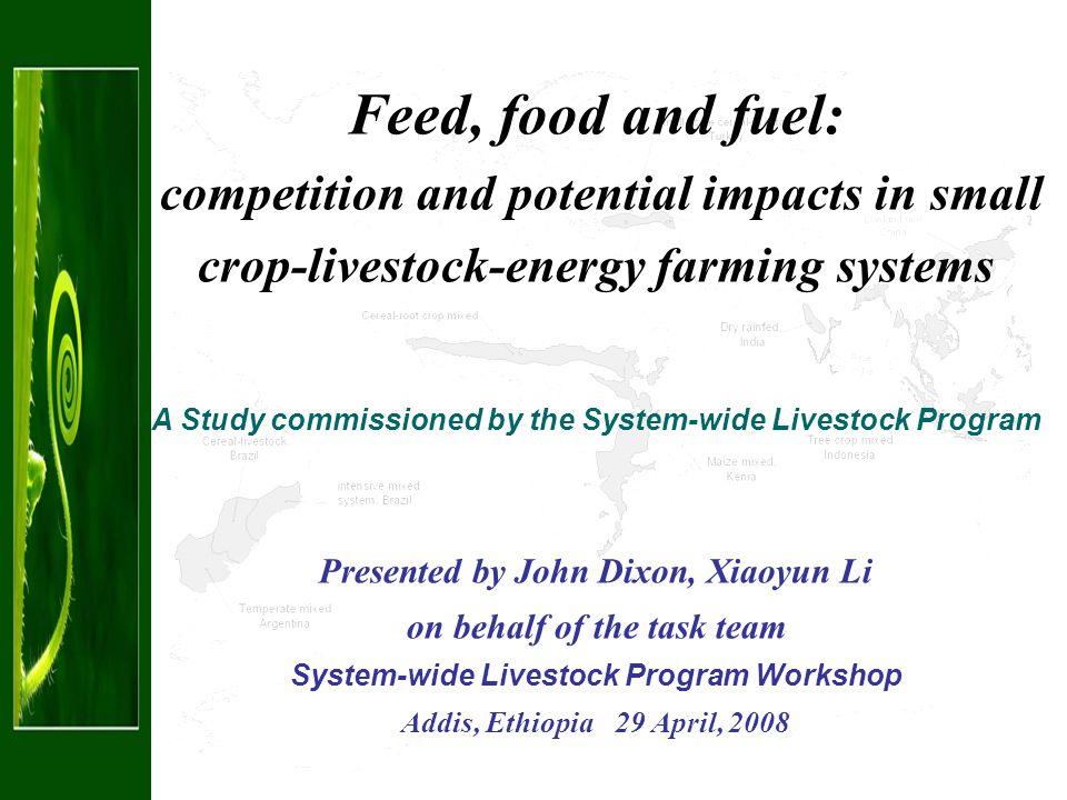 International market responses World crop food and livestock products demand