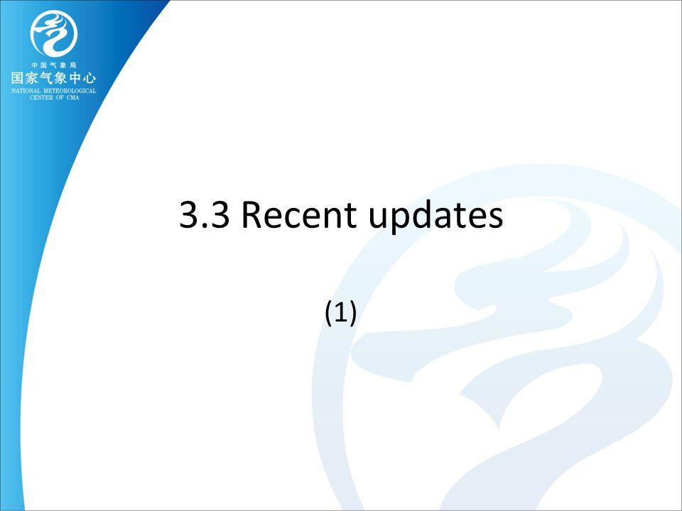 3.3 Recent updates (1)