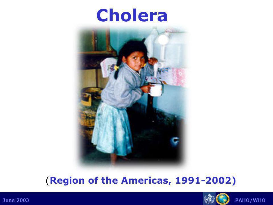 June 2003 PAHO/WHO Cholera (Region of the Americas, 1991-2002)