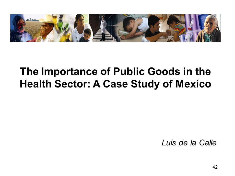 42 The Importance of Public Goods in the Health Sector: A Case Study of Mexico Luis de la Calle