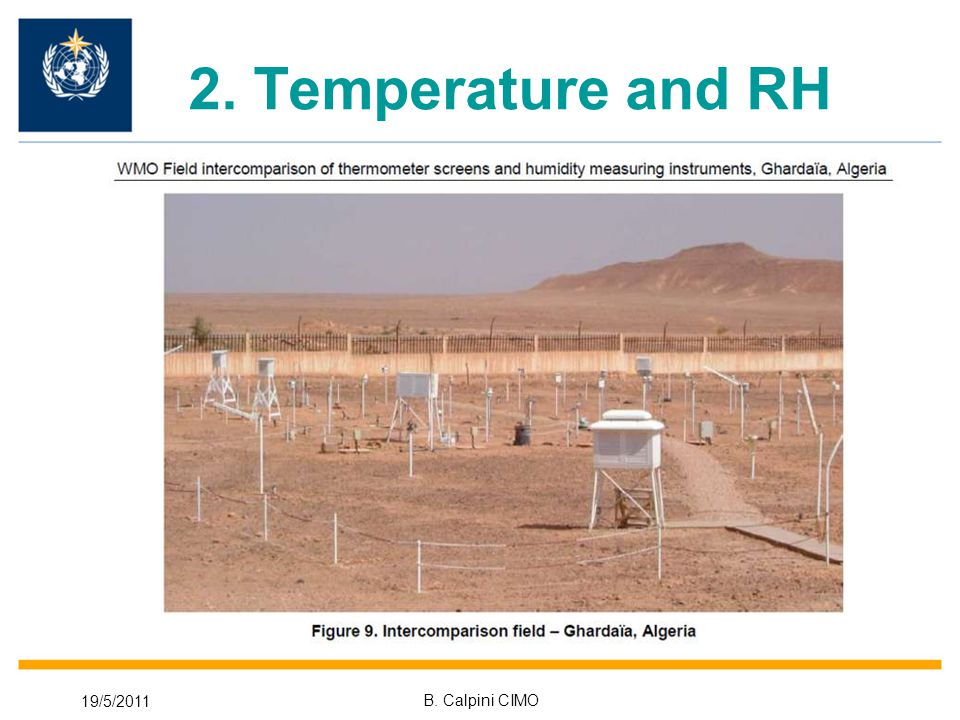 19/5/2011 B. Calpini CIMO 2. Temperature and RH